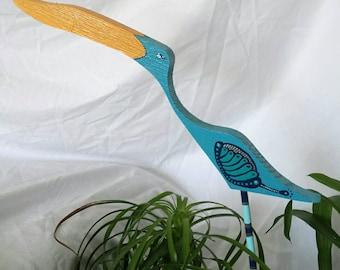 Yard bird garden stake