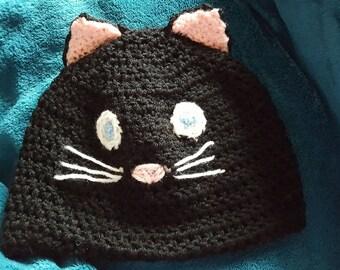 Cat face beanie