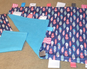 Tag Baby Blanket and Burp Cloth