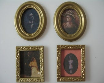 Dolls House Miniature Set of 4 Photographs