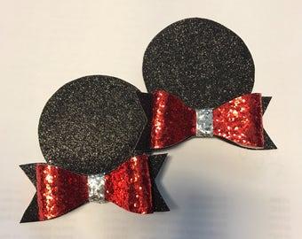 minnie ears - mickey mouse ears - pigtail ears