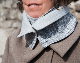 Woman's Scarf gray and white