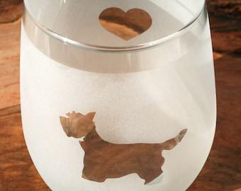 Westie Stemless Wine Glass Set