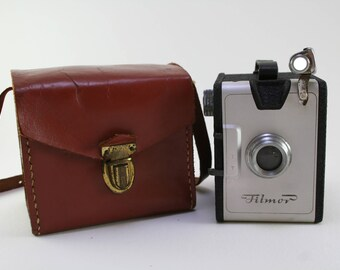 Filmor Box Camera with Original Leather Case- Italian Fototecnica