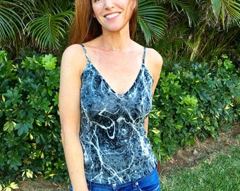 Paint Splatter Top / Splatter Tank Top / New / Splatter Paint Clothing / Casual Top / Art Tank Top / DAVIS Fashion