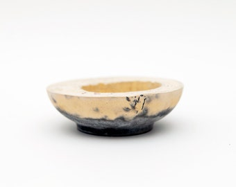 Yellow and Grey Small Concrete Bowl