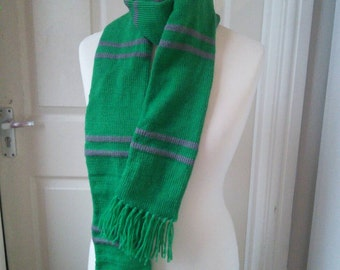 Handmade Harry Potter Slytherin Scarf - all house colours available
