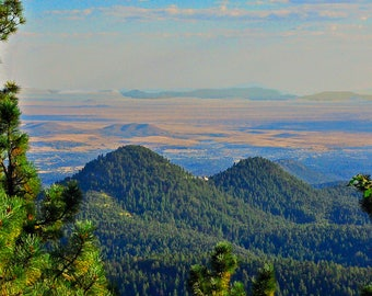 Twin Sisters Mountains View from Signal Peak New Mexico Southwest Hunting Travel Hiking Wilderness