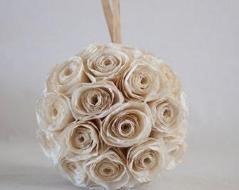 Rustic Wedding Decorations, Kissing Ball, Pomander, Wedding Decoration, Rose Ball, Vintage Wedding, Rustic Wedding, Country Wedding Ideas