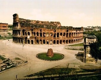1895 Colosseum ~ Rome Italy ~ Poster Print
