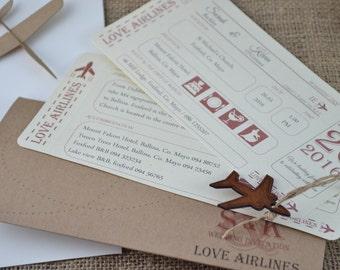 Rustic wedding invitation, Handmade wedding invitation,