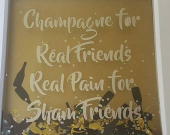 Champagne wall frame