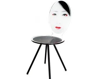Acrylic Asian Geisha Style Chair Mme Aoi
