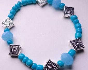 Beautiful Blue/Silver Bracelet