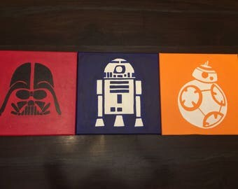 Star Wars canvas hand painted wall art