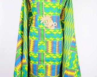 African print Dress, African print cape dress, African print clothing, African print Kente dress, Ankara dress