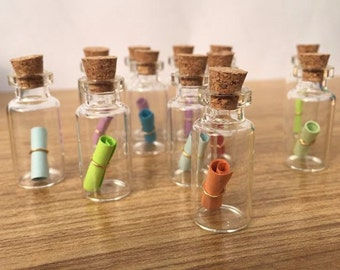 50 Pcs (0.5 mL) Mini Glass Bottle Vials