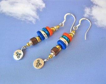 Camino zodiac / scallop shell jewellery earrings