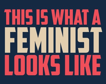 "Printable, digital  18x24 Women's March poster ""This is What a Feminist Looks Like"""