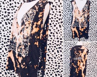 Guns N Roses Distressed Tank Top  - Bleached, Distressed Shredded Shirt, Tee, Band Shirt, Repurposed, Vintage