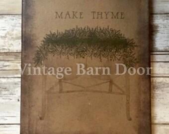 Make Thyme 8x10 Canvas