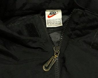 SALE 20% OFF Vintage 90s NIKE Swoosh Athletics Windbreaker Jacket Sport Coat Spell out big logo Tops Sz S fits L good condition