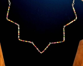 """Colorful Beaded """"V"""""""