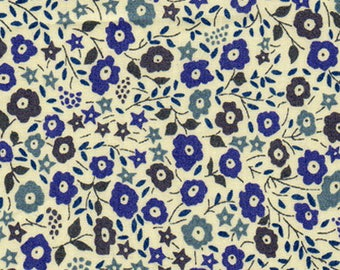 Coupon fabric Liberty of London Fairford blue 25cm x 32cm