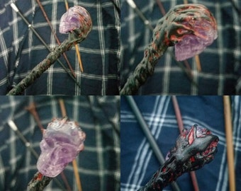 Harry Potter Inspired Personalised Wand (Embellishment Type: Obscurus)