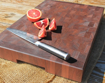 Handmade Walnut End Grain Butcher Block Cutting Board/Chopping Block