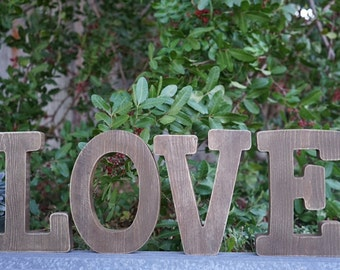 ON SALE - Rustic Love Letters, Wedding, and Party Decor, LOVE letters, Wood Letters, Rustic Letters, Love