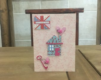 Pink New Home Card