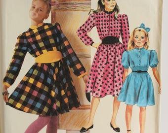 Vintage McCalls 2649 Girls size 10 dress