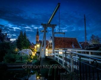 Edam Bridge, Holland photography, Holland art print, Netherlands