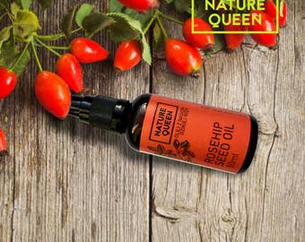 100% Pure Natural Organic ROSEHIP SEED OIL Cold Pressed Unrefined