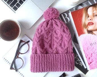 lovely winter knitting hat