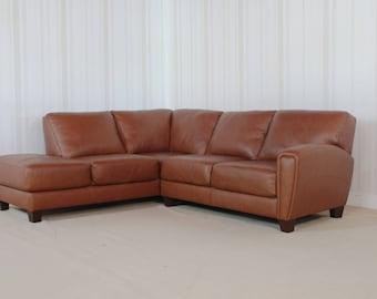 Homeflair Leather Brown Buffalo Sofa (83)