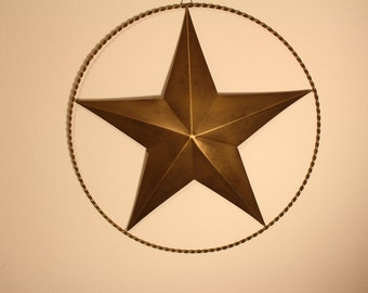 "Wraught Iron Texas Star, 18"" L, Bronze"
