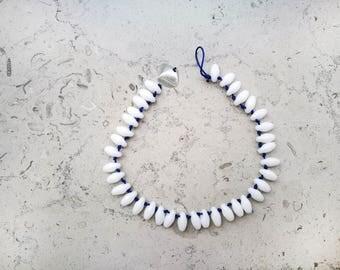 """Tahiti"" ankle bracelet white"