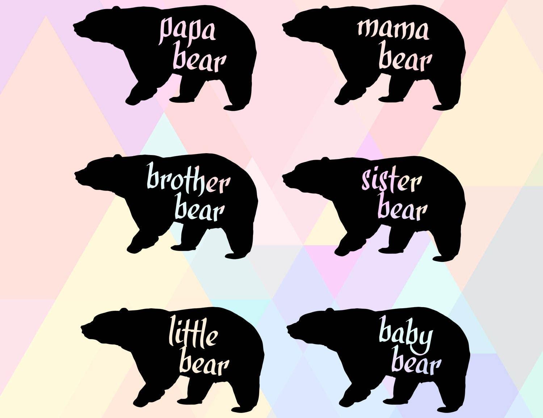 Mama Bear Svg File Bear Family Svg Mama Bear Cut File