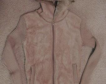 Suede Sweater Jacket