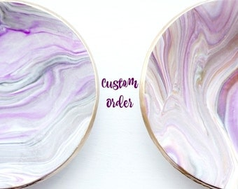 Marbled Clay Bowl // Ring Dish // Jewelry Holder // Trinket Dish