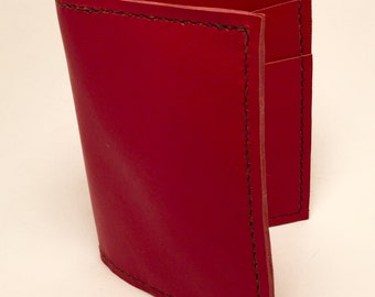 Red Leather Cash-Money Wallet