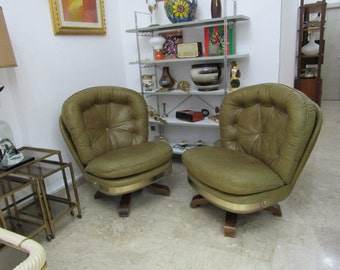 Couple armchairs Italian design 1960