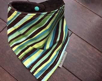 Baby Bandana Bib - Wavy Stripes