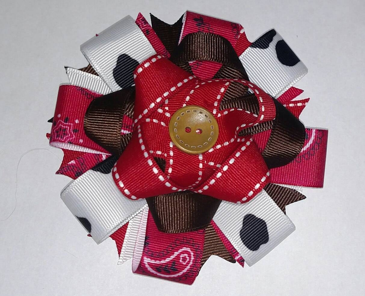hair bows style country loopy style hair bow country hair bow 8915 | il fullxfull.1189257667 rvj5