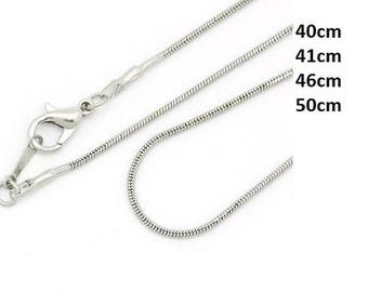 Chain, chain, jewelry chain, necklace, silver, silver plated, 40 cm, 41 cm, 46 cm, 51 cm