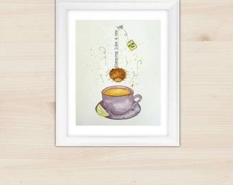 Kitchen wall art/ kitchen wall decor/ kitchen art work. Nursery decor. Shabby chic, funny kitchen art. Made in Italy, customizable gift