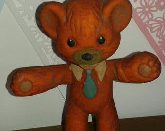 Bendy Foam Toy Bear 1960's