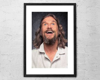 The Dude - The Big Lebowski - Painting - Dude Abides - Movie Poster - Big Lebowski Poster - Big Lebowski Art - Jeff Bridges - Coen Brothers